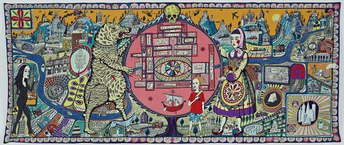 An image of Map of truths and beliefs by Grayson Perry