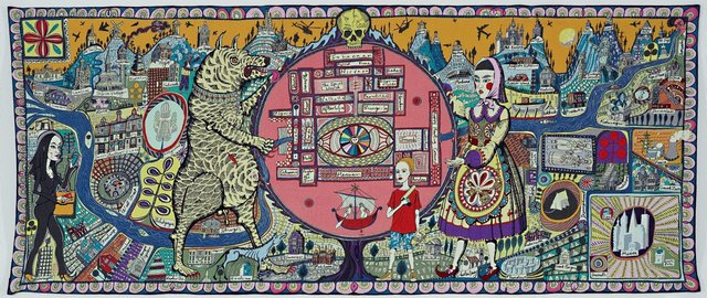 Map of truths and beliefs, (2011) by Grayson Perry