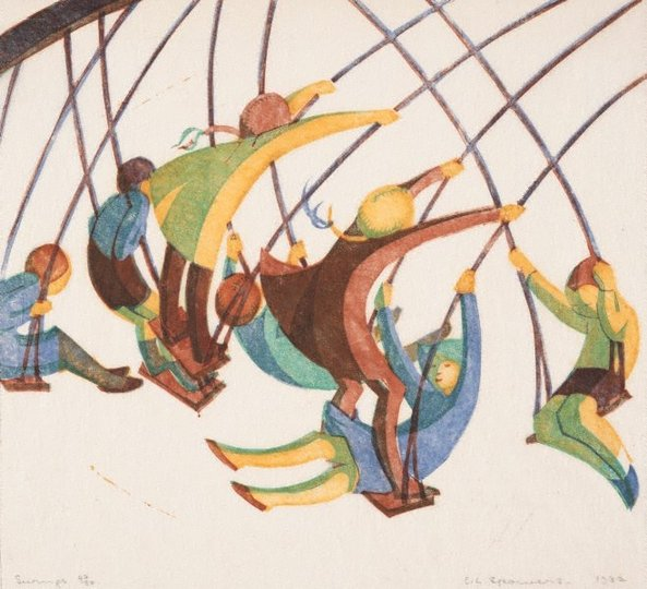 AGNSW collection Ethel Spowers Swings 1932
