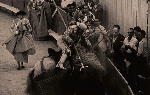 An image of Bull fight, Nimes, France by Lewis Morley