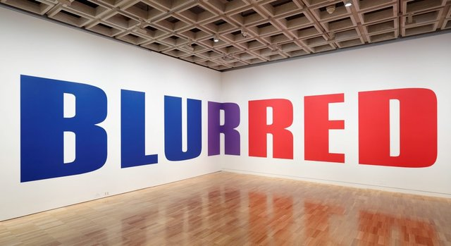 BLURRED, (2004) by Kay Rosen