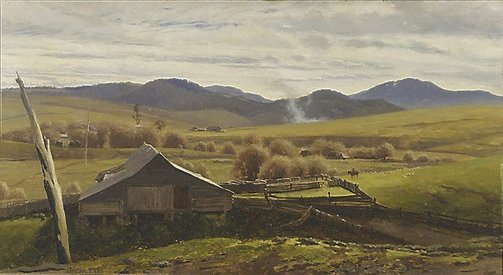 An image of A woolshed, Victoria by John Mather