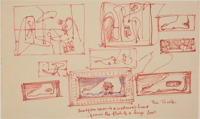 An image of Studies for 'The Tomb'