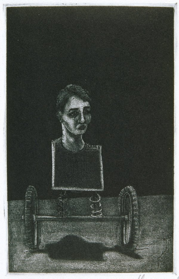 An image of (Untitled / bust on wheels)