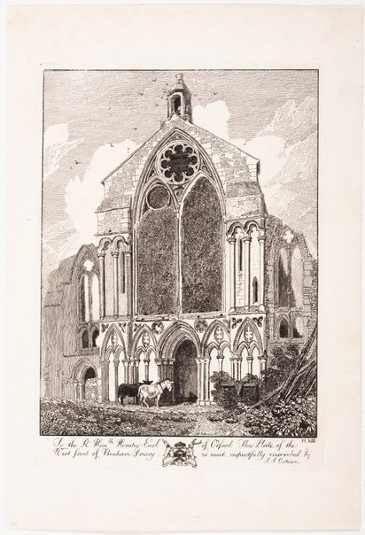 An image of West front, Binham Priory by John Sell Cotman