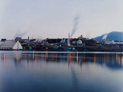 The Zinc Works and Mount Wellington from Store Point, Tasmania, 2004 by David Stephenson