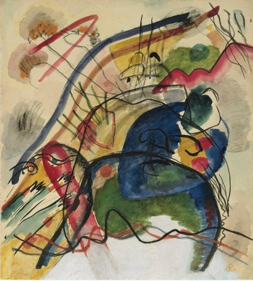 An image of Study for 'Painting with white border' by Wassily Kandinsky