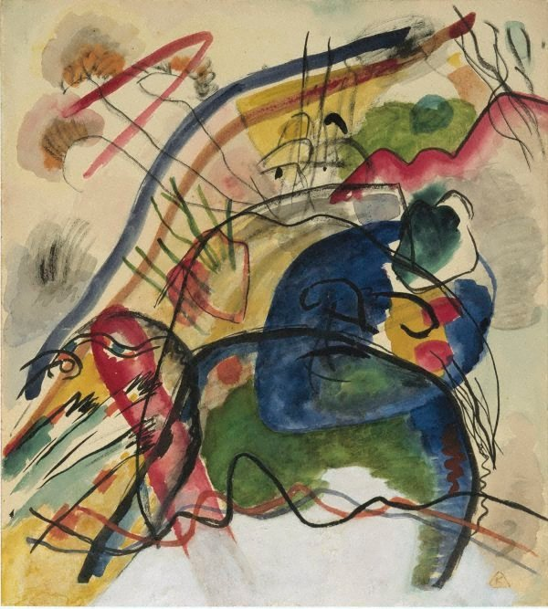 AGNSW collection Wassily Kandinsky Study for 'Painting with white border' (1913) 147.1982