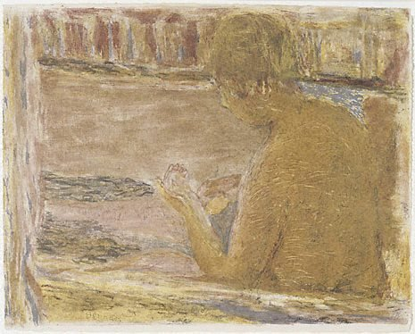 An image of The bathtub by Pierre Bonnard