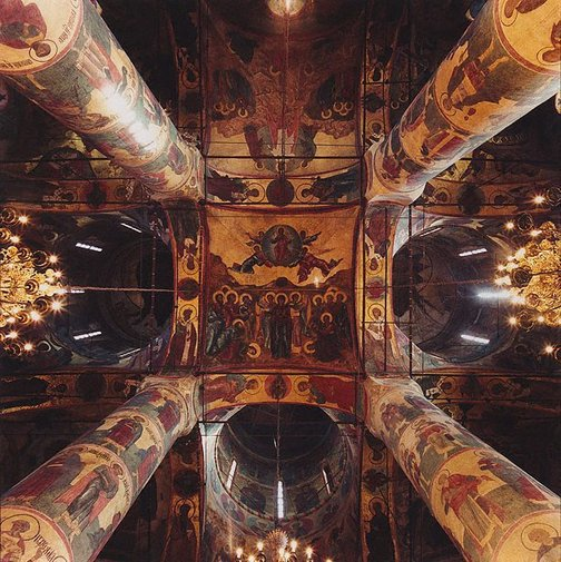 An image of Cathedral of the Assumption, Kremlin 1475-79, Moscow, Russia by David Stephenson