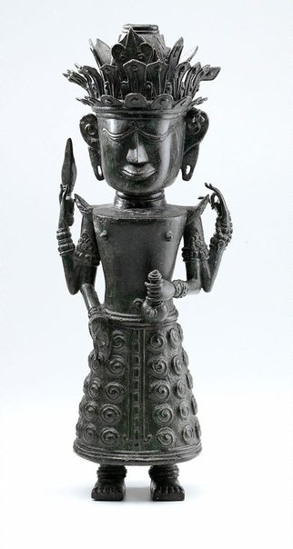 An image of Figure holding ewer (God 'Dewi Uma', God of Nature) by