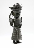 Alternate image of Figure holding ewer (God 'Dewi Uma', God of Nature) by