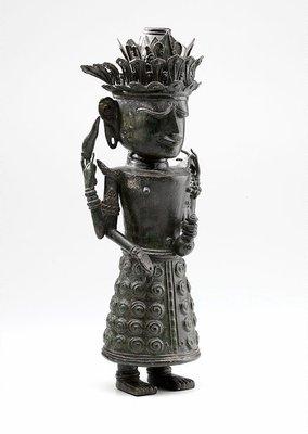 Alternate image of Figure holding ewer (God 'Dewi Uma', God of Nature) by
