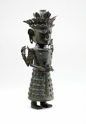 Alternate image of Figure holding bowl (God 'Dewi Sri', God of Rice) by
