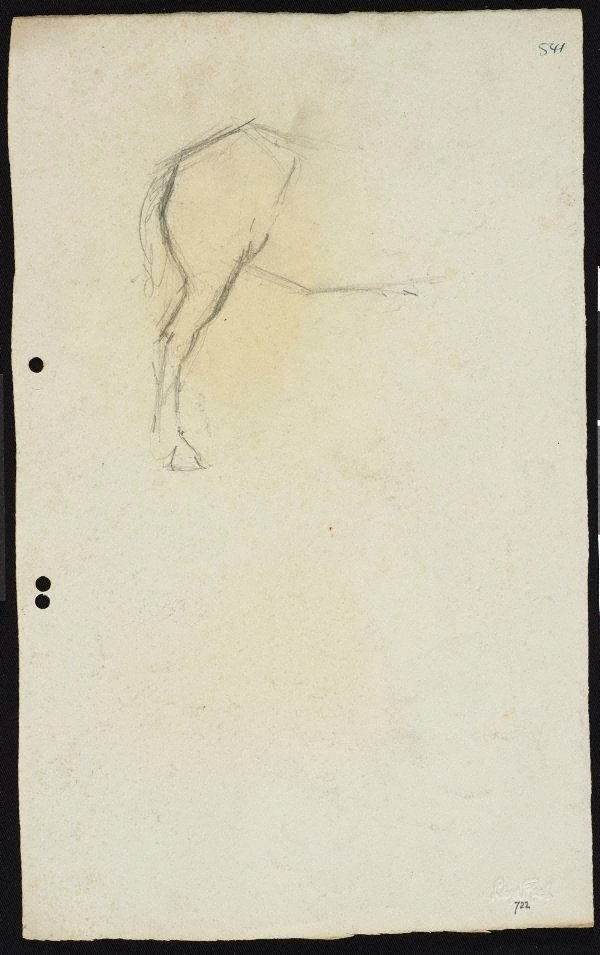 An image of recto: Study of horse's leg verso: Study of horse's legs
