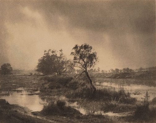 An image of Winter showers by Harold Cazneaux