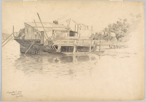 An image of A squatter's home, Berry's Bay, Sydney by Martin Lewis