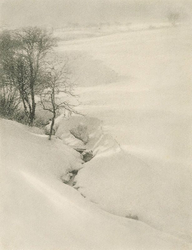 An image of The hillside, winter
