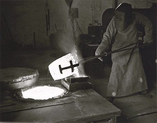 An image of Pouring gold, Kalgoorlie, Western Australia by Axel Poignant