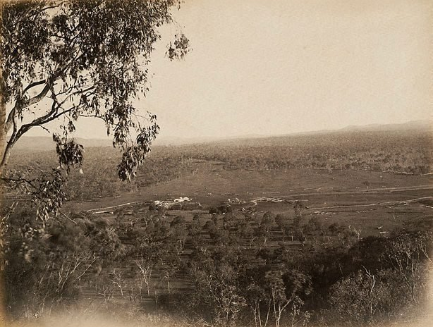 An image of Homestead in distance
