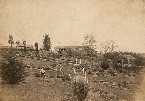 An image of Homestead and garden (close up) by Charles Bayliss