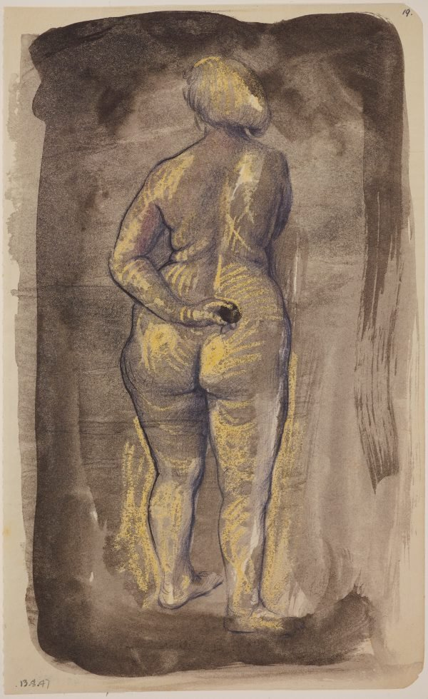 An image of Studies of the nude (Female nude, back view)