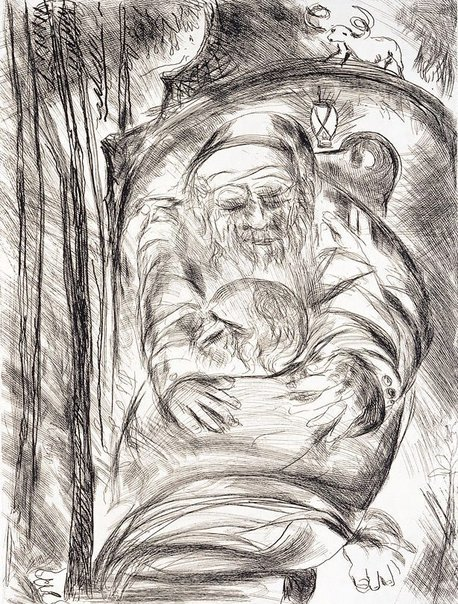 "An image of ""He was lost and is found"" by Arthur Boyd"