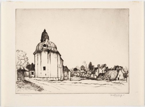 An image of Old church at Caen by William Strang