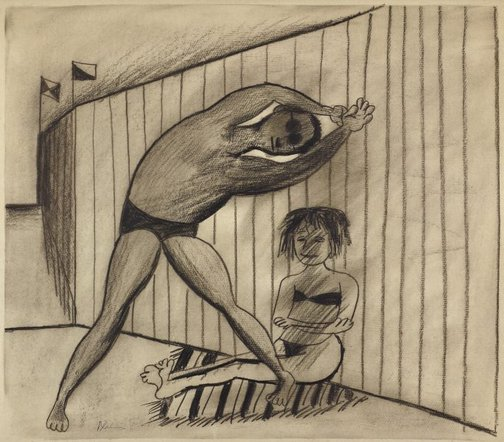 An image of Limbering up by Charles Blackman