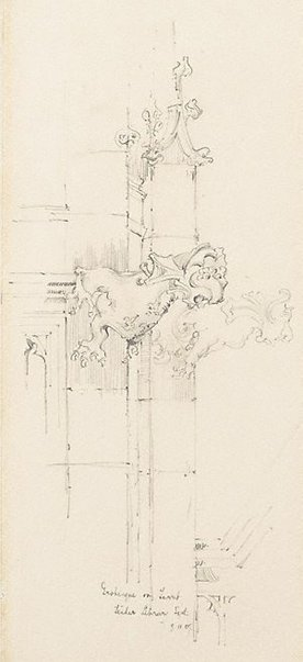 An image of Grotesque on turret, Fisher Library, Sydney by Mr B.J. Waterhouse