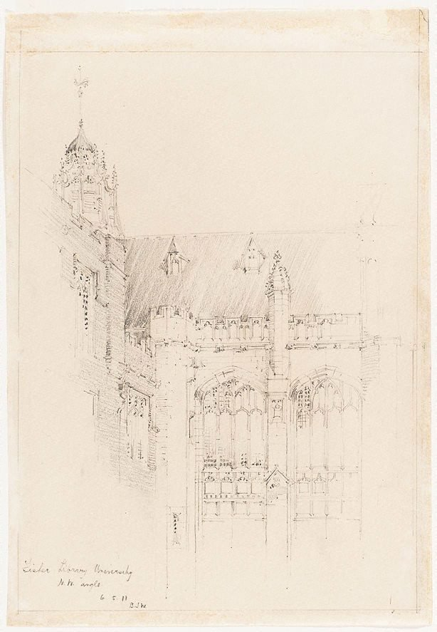 An image of Fisher Library, University, N.W. angle