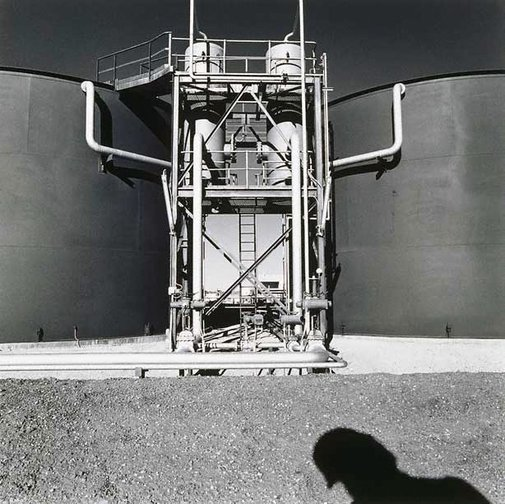 An image of Two tanks, Dullingari Oil Facility, South Australia by Tom Balfour