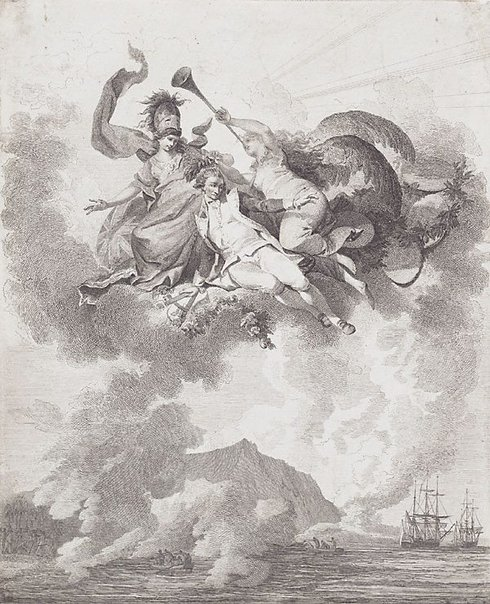 An image of The apotheosis of Captain Cook by after Philippe Jacques de Loutherbourg, after John Webber