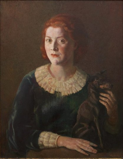 AGNSW prizes Arthur J Murch Miss Suzanne Crookston, from Archibald Prize 1935