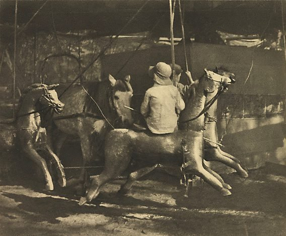 An image of Old time merry-go-round
