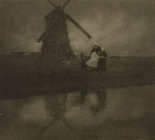 An image of A Dutch landscape by Francis J Mortimer