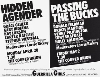 AGNSW collection Guerrilla Girls Hidden agender/Passing the bucks 1986