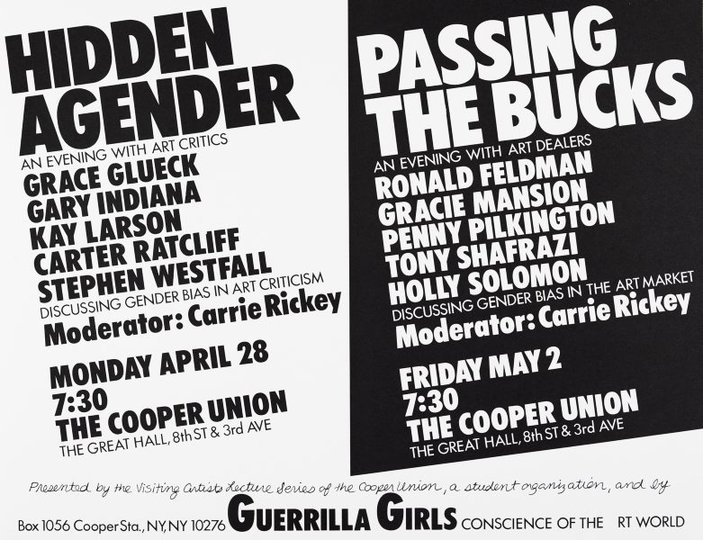 AGNSW collection Guerrilla Girls Hidden agender/Passing the bucks (1986) 150.2014.11