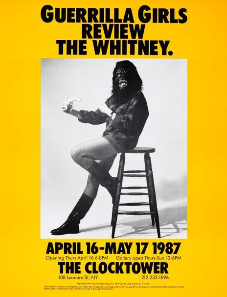 An image of Guerrilla Girls review the Whitney by Guerrilla Girls