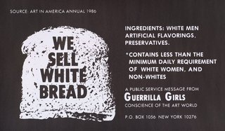 AGNSW collection Guerrilla Girls We sell white bread 1987