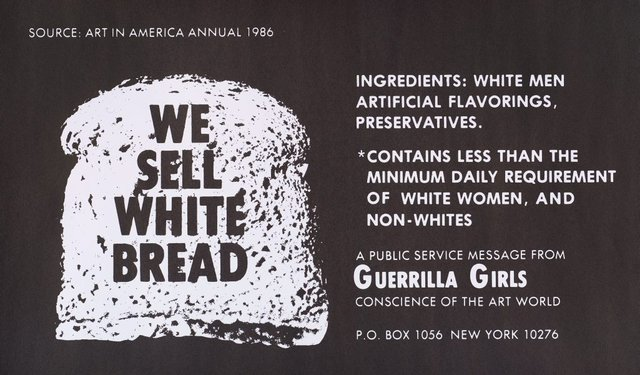 We sell white bread, (1987), Portfolio Compleat 1985-2012 by Guerrilla Girls