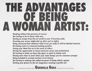 AGNSW collection Guerrilla Girls The advantages of being a woman artist 1988