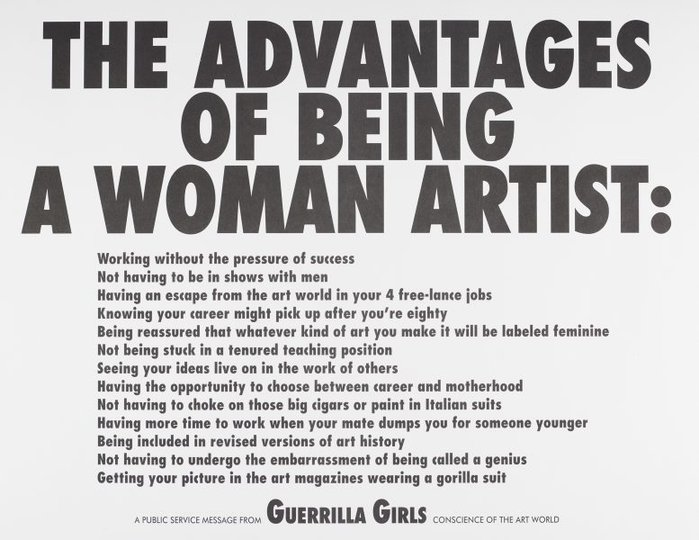 AGNSW collection Guerrilla Girls The advantages of being a woman artist (1988) 150.2014.18