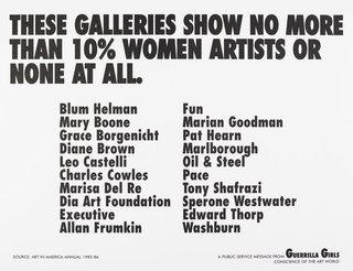 AGNSW collection Guerrilla Girls These galleries show no more than 10% women artists or none at all 1985