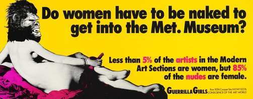 An image of Do women have to be naked to get into the Met. Museum? by Guerrilla Girls