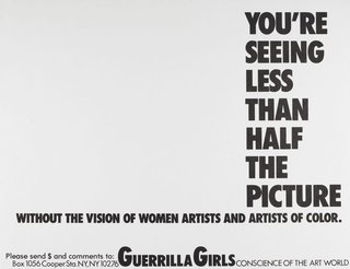AGNSW collection Guerrilla Girls You're seeing less than half the picture 1989