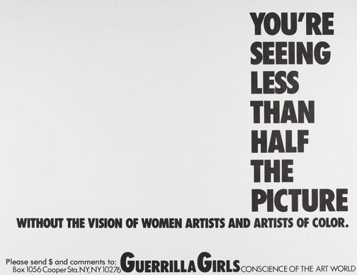 An image of You're seeing less than half the picture by Guerrilla Girls
