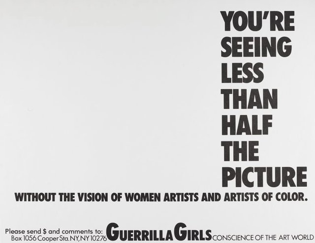 You're seeing less than half the picture, (1989), Portfolio Compleat 1985-2012 by Guerrilla Girls