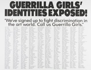 AGNSW collection Guerrilla Girls Guerrilla Girls' identities exposed! 1990