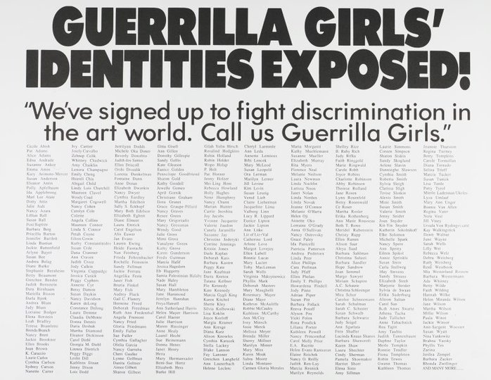 AGNSW collection Guerrilla Girls Guerrilla Girls' identities exposed! (1990) 150.2014.27